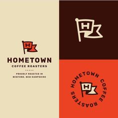 Follow us @logoinspirations Hometown Coffee Roasters by @ryanprudhomme - ONLINE COURSE http://ift.tt/2geIf0d - LEARN LOGO DESIGN @logocore @logocore @logocore