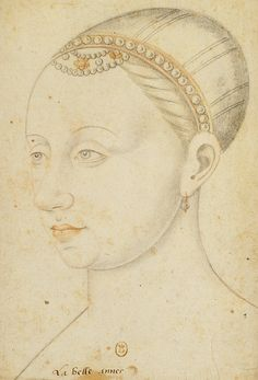 Portrait of Agnes Sorel, first officially recognized royal mistress, mistress to Charles VII of France