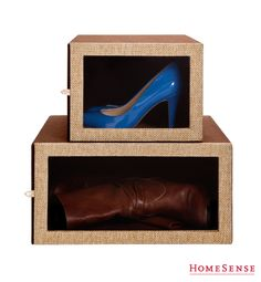 Shoe Boxes! love it. #HomeSenseStyle