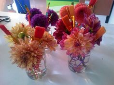 Paint-brush centrepieces