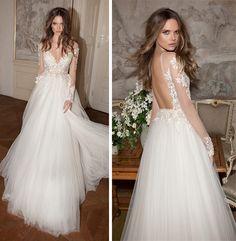 Vestido de noiva com saia de tule Mais