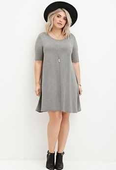 cool Plus Size Trapeze T-Shirt Dress                                                                                                                                                                                 More
