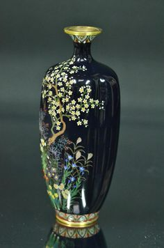 Petit Vase Japonais En Cloisonné Dit Vase Shippo Fin 19ème, Antiquités Art et Lumières, Proantic