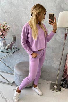 Compleu de dama casual-sport Violet Casual Chic Outfits, Sport Casual