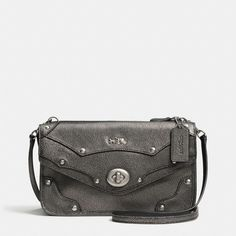 The Rhyder Crossbody In Metallic Leather from Coach