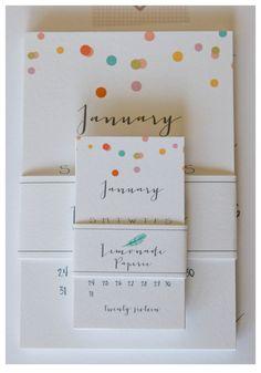 2016 Calendar Mini Grey by lemonadepaperie on Etsy