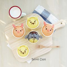 Tsum tsum deco steamed cakes for breakfast.