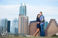 Engagement pictures at the Long Center in Austin