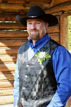 A Gorgeous Groom In Our Jackson Western Vest Www Idoindenim