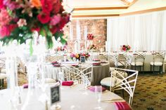Red Rock Country Club wedding | coral burgundy marsala centerpiece| Las Vegas wedding