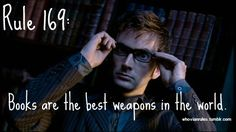 Rule 169: Books are the best weapons in the world.  SUBMISSION! [Image Credit]