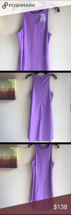 Tibi dress Viscose blend zips up back fitted A line dress Tibi Dresses