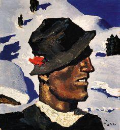 walde bauernsonntag WALDE, Alfons ca 1930 Tiroler Hozknecht Ski Posters, Vintage Ski, Austria, Illustration, Skiing, National Parks, Painters, Retro, Antiques