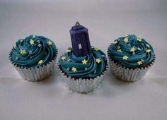 Doctor Who TARDIS cupcakes