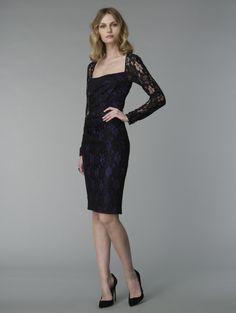 David Meister&39s Black &amp Blue Metallic Gown.  Fall 2012 ...
