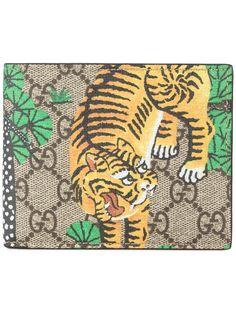 GUCCI GG Bengal print billfold wallet. #gucci #wallet