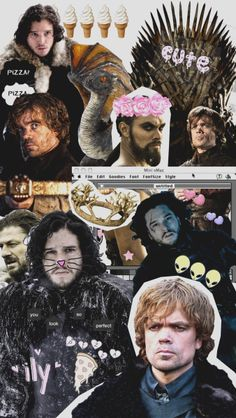 Lockscreen wallpaper tumblr collage overlay papel de parede GoT game of thrones  wallpaper | lockscreen | papel de parede | plano de fundo | background |