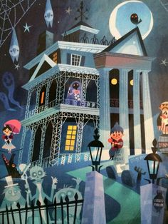 Haunted Mansion, such cute artwork!