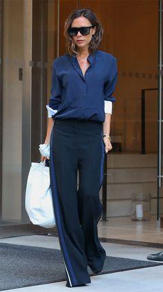 Street style look Victoria Beckham