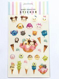 Disney characters sticker  Tsum Tsum ice cream by Meowashitape