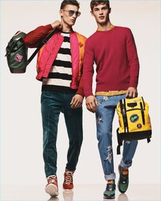 Gregory Harris photographs David Trulik and Kit Butler for Bally's spring-summer 2017 campaign.