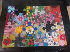 Altered Puzzle Pieces, Round 8 Gallery - ORGANIZED CRAFT SWAPS