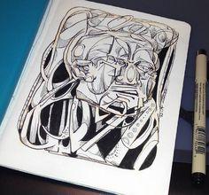 Deconstrucción de apnea del sueño. tinta
