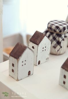 little wooden houses