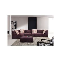 Shadra Modern Sectional via Polyvore featuring home, furniture, sofas, modern sectional, modern home furniture, modern furniture, mod furniture and modern sofa