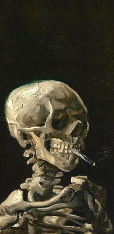 Ideas For Art Painting Classic Vincent Van Gogh Art Sketches, Art Drawings, Skeleton Art, Skeleton Head Drawing, Skeleton Flower, Mermaid Skeleton, Skeleton Anatomy, Fish Skeleton, Skeleton Makeup