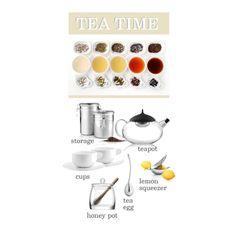 Tea time on Polyvore