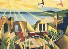 Giulio D'Anna - Paesaggio siciliano e Aerei, 1931 | Flickr - Photo Sharing!