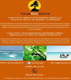 #Tulum la veleta terreno en esquina en #venta
