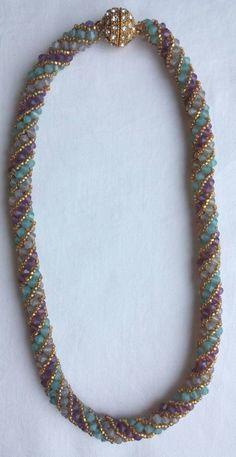 Jewelry Kits, Diy Crafts Jewelry, Beaded Jewelry, Beaded Necklace, Beaded Bracelets, Pendant Necklace, Fabric Necklace, Fringe Necklace, Seed Bead Patterns
