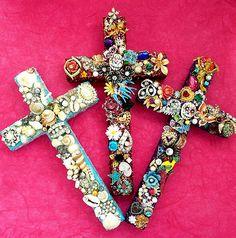 diy crosses | Embellished glitter crosses by ~janedean on deviantART