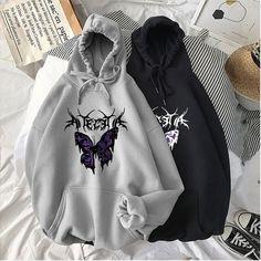 Egirl Fashion, Gothic Fashion, Aesthetic Hoodie, Aesthetic Clothes, Kawaii Dress, Streetwear, Harajuku, Casual Cosplay, Hoodies