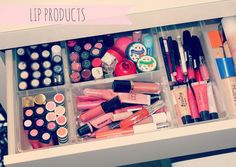 Inspiration for Makeup Organization!!