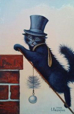 Kashirin Stepan.  the black cat chimney sweep....so lucky!  :)