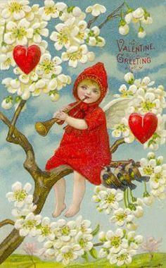 Vintage Valentine girl.