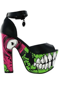 12c9453ab89e Iron Fist Zombie Stomper Super Platform Heels - Green  IronFist   PlatformsWedges http