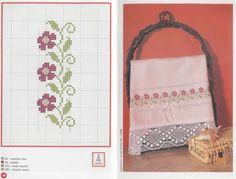 Punto de Cruz en Toallas | Aprender manualidades es facilisimo.com Cross Stitch Bookmarks, Cross Stitch Embroidery, Cross Stitch Patterns, Cross Stitch Flowers, Celtic Knot, Sewing, Instagram, Charts, Alphabet
