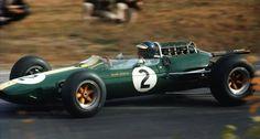 1964 French GP, Rouen : Jim Clark, Lotus-Climax 25 #2, Team Lotus, Pratice. (ph: gtxforums.com)