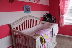 striped nursery walls