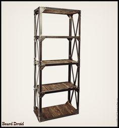 СТЕЛЛАЖ INDUSTRIAL. loft art - купить или заказать в интернет-магазине на Ярмарке Мастеров   Произведения мебельного искусства.<br /> 100 %…