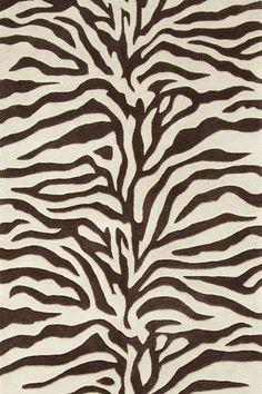 #DashAndAlbert Zebra Tufted Wool Rug Dan's Living Room Choice.  Small for space