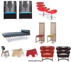 REAC Miniature Designer Chairs Vol 6