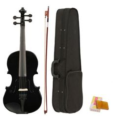 40890 musical-instruments 4/4 Full Size Acoustic Violin Fiddle Black with Case Bow Rosin  BUY IT NOW ONLY  $33.2 4/4 Full Size Acoustic Violin Fiddle Black with Case Bow Rosin...