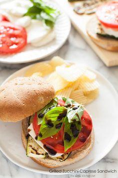 Grilled Zucchini Caprese Sandwich @TheLittleKitchn | Julie | Julie