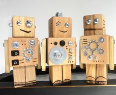 Wood toy robots - robot toy set