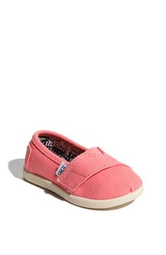 BABY TOMS! so cute! TOMS 'Classic - Tiny' Canvas Slip-On (Baby, Walker & Toddler) | Nordstrom